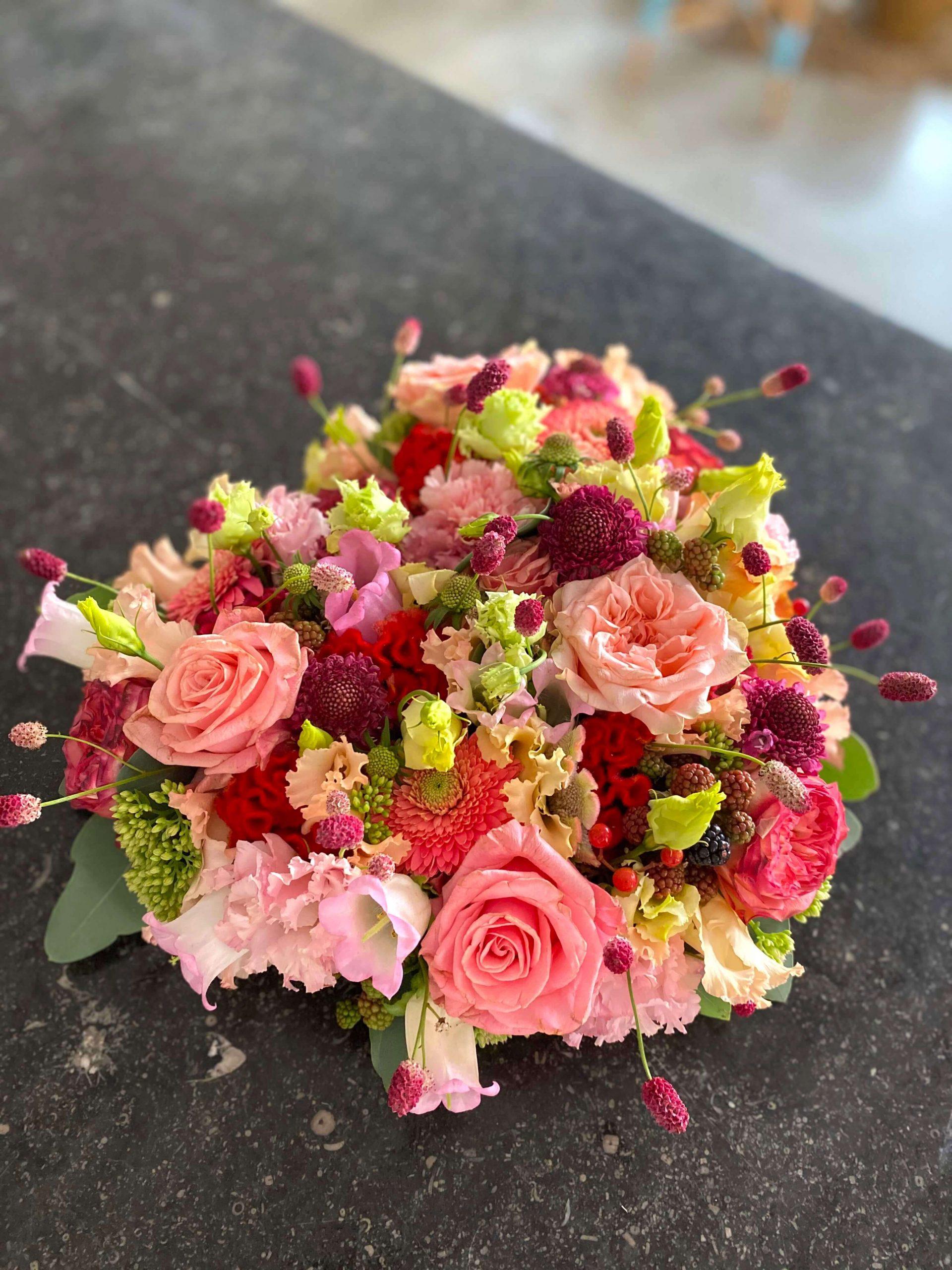 rouw bloemen boeket afscheid